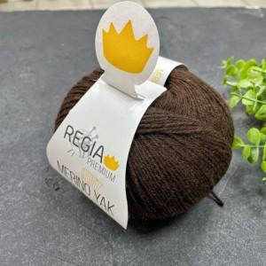 Пряжа Regia Premium Merino Yak 07522 (горький шоколад)