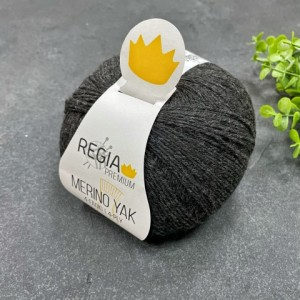 Пряжа Regia Premium Merino Yak 07512 (графит)