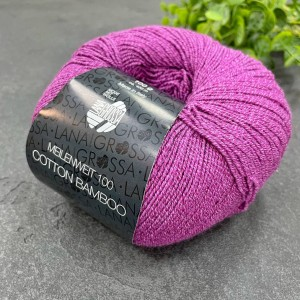 Пряжа MEILENWEIT Cotton Bamboo 17 (ярко фиолетовый)