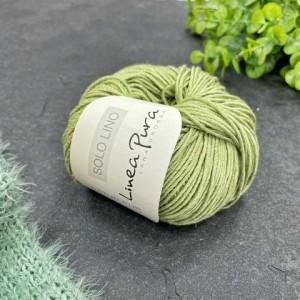 Пряжа Lana Grossa Solo Lino 019 (пастельно-зелёный)