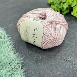 Пряжа Lana Grossa Solo Lino 044 (жемчужно-розовый)