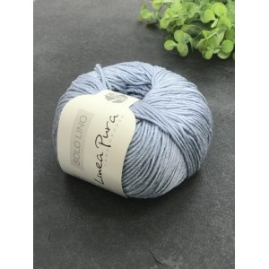 Пряжа Lana Grossa Solo Lino 046 (небесно-голубой)