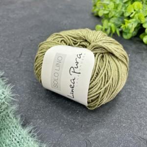 Пряжа Lana Grossa Solo Lino 047 (свежая оливка)