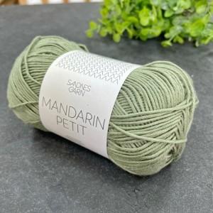 Пряжа Sandnes Garn Mandarin Petit 9041 (пыльно-зеленый)