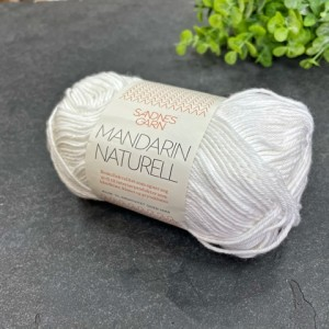 Пряжа Sandnes Garn Mandarin Naturell 1001 (белоснежный)
