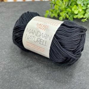Пряжа Sandnes Garn Mandarin Naturell 1099 (черный)