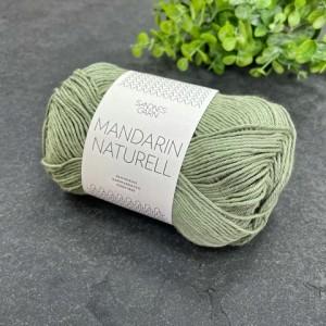 Пряжа Sandnes Garn Mandarin Naturell 9041 (пыльный зеленый)