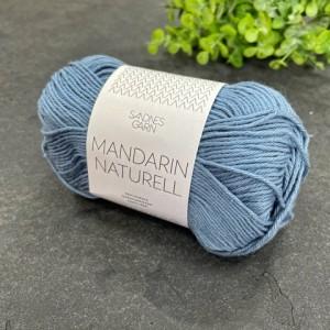 Пряжа Sandnes Garn Mandarin Naturell 9463 (джинс)