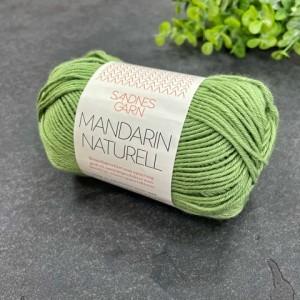 Пряжа Sandnes Garn Mandarin Naturell 8734  (зелень)