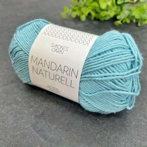 Пряжа Sandnes Garn Mandarin Naturell 6823 (бирюзовый)
