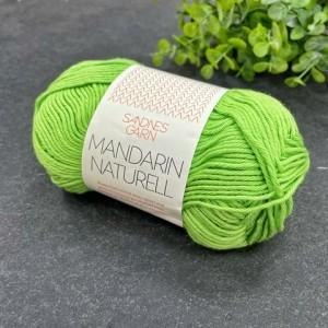 Пряжа Sandnes Garn Mandarin Naturell 8514 (зеленое яблоко)