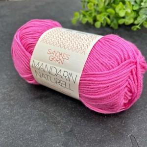 Пряжа Sandnes Garn Mandarin Naturell 4505 (розовый неон)