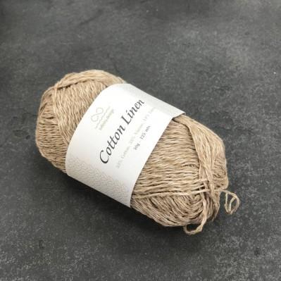 пряжа Infinity Design Cotton Linen 3042 (кофе с молоком)