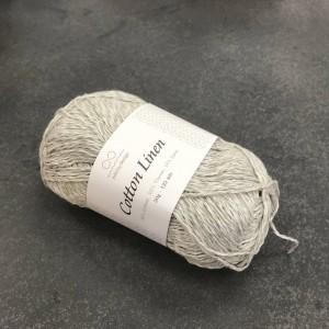 пряжа Infinity Design Cotton Linen 3820 (жемчужный серый)