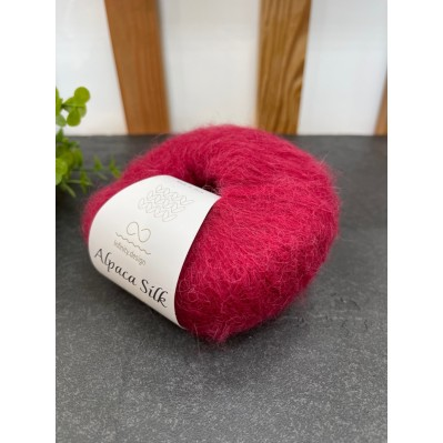 Пряжа Alpaca Silk 4554 (красное вино)