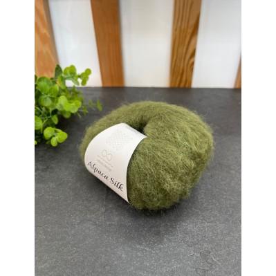 Пряжа Alpaca Silk 9573 зеленый мох