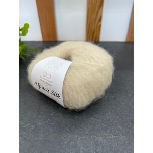 Пряжа Alpaca Silk 1012 молочный