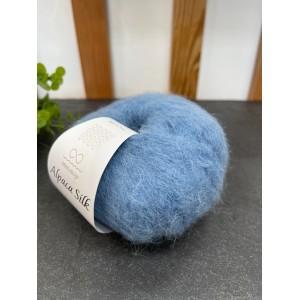 Пряжа Alpaca Silk 6052 темно голубой