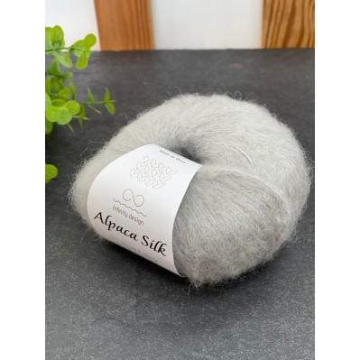 Пряжа Alpaca Silk 1032 светло серый